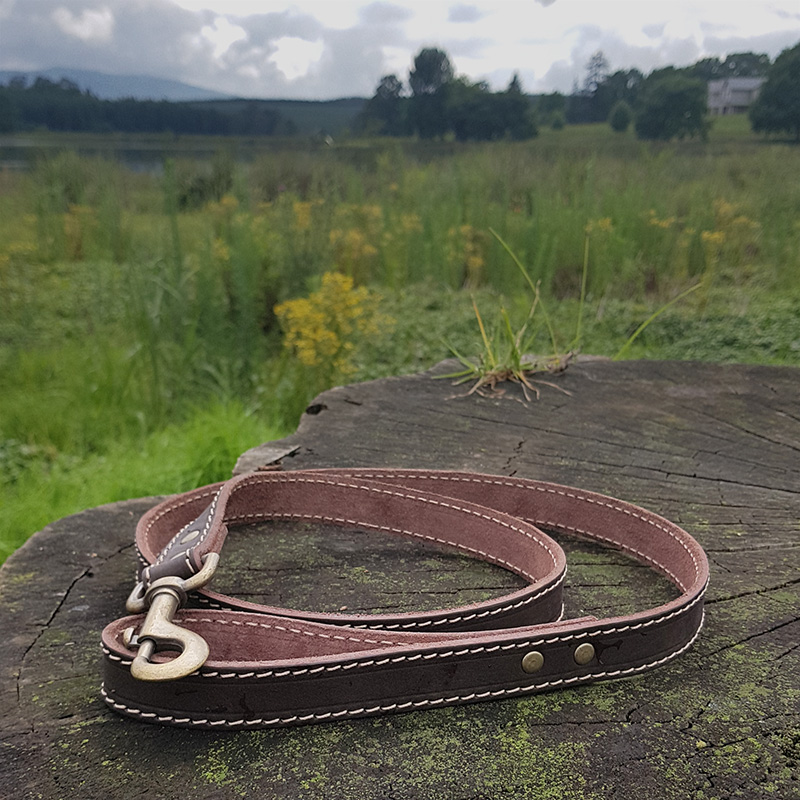 B&H Stitched Leather Dog Leash