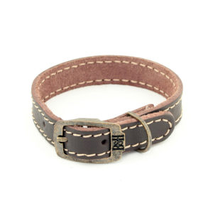 Bailey and Hound Extra Small Stitched Leather Dog Collar