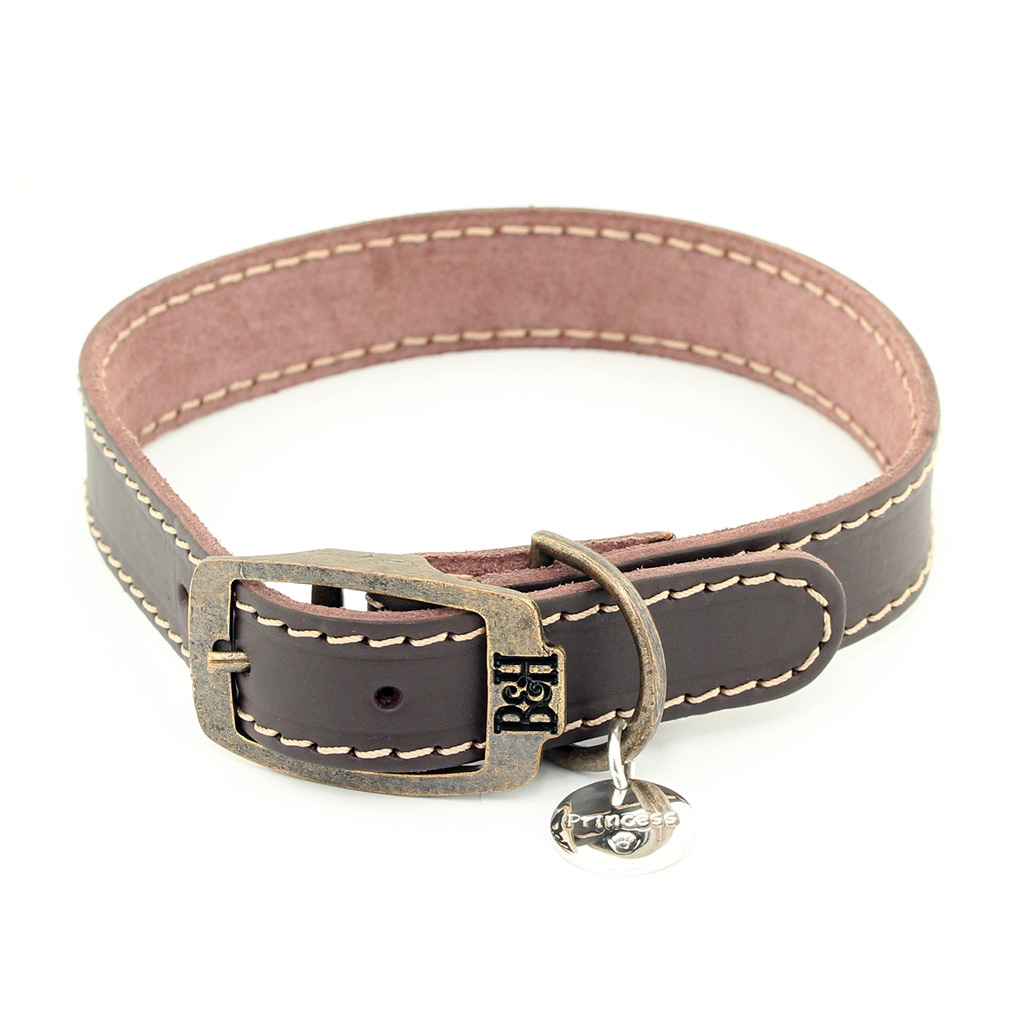 Medium Personalised Leather Dog Collar Shop Pet