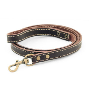 Bailey and Hound Stitched Leather 20mm Leash