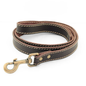 Bailey and Hound Stitched Leather 25mm Leash