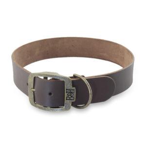 Bailey & Hound Plain Large Leather Dog Collar