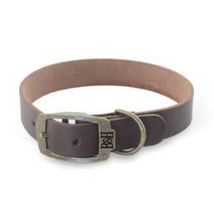 Bailey & Hound Plain Medium Leather Dog Collar