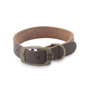 Bailey & Hound Plain Small Leather Dog Collar